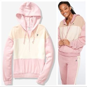 Vs pink quart zip pullover